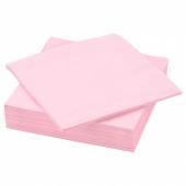 ФАНТАСТИСК Салфетка бумажная, светло-розовый, 40x40 см