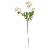 СМИККА Цветок искусственный,лютик,белый