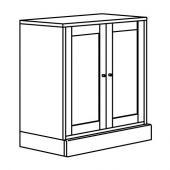 ХАВСТА Шкаф с цоколем, серый, 81x89x47 см