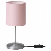 ИНГАРЕД Лампа настольная, светло-розовый, 30 см
