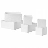 СКУББ Набор коробок, 6 шт.,белый