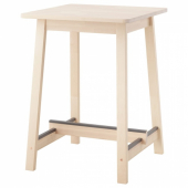 НОРРОКЕР Барный стол, береза, 74x74 см