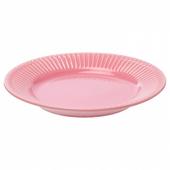 СТРИММИГ Тарелка десертная, каменная керамика розовый, 21 см