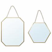 ЛАССБЮН Зеркало, 2 шт, золотой