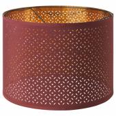 НИМО Абажур, темно-красный, желтая медь, 44 см