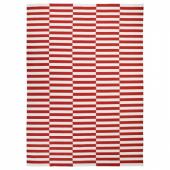 СТОКГОЛЬМ 2017 Ковер безворсовый, ручная работа в полоску, белый в полоску оранжевый красный, 250x350 см