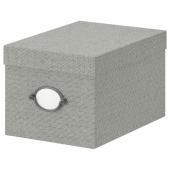 КВАРНВИК Коробка с крышкой,серый