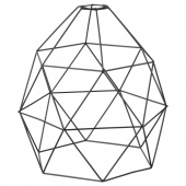 БРЮНСТА Абажур для подвесн светильника, черный, 30 см
