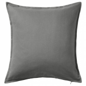 ГУРЛИ Чехол на подушку, серый, 65x65 см
