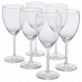 СВАЛЬК Бокал для белого вина, прозрачное стекло, 25 сл