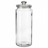 ВАРДАГЕН Банка с крышкой, прозрачное стекло, 1.8 л