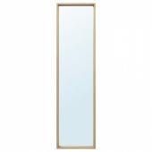 НИССЕДАЛЬ Зеркало, под беленый дуб, 40x150 см