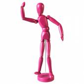 ГЕСТАЛЬТА Фигурка, розовый, 33 см