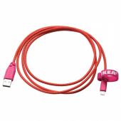 ЛИЛЛЬХУЛЬТ Кабель lightning-USB, розовый, 1.5 м