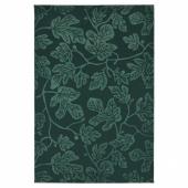 ХИЛЬДИГАРД Ковер, короткий ворс, зеленый, 133x195 см