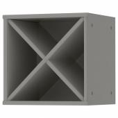 ТОРНВИКЕН Шкаф для вина, серый, 40x37x40 см
