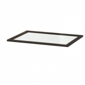 КОМПЛИМЕНТ Полка стеклянная, черно-коричневый, 75x58 см