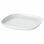ВЭРДЕРА Тарелка десертная, белый, 18x18 см