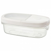 ИКЕА/365+ Контейнер+крышка д/сухих продуктов,прозрачный,белый