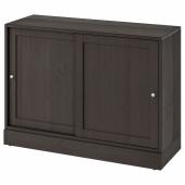 ХАВСТА Шкаф с цоколем, темно-коричневый, 121x89x47 см