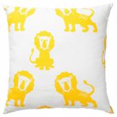 ДЬЮНГЕЛЬСКОГ Подушка, лев, желтый, 50x50 см