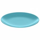 ФЭРГРИК Тарелка десертная, каменная керамика, бирюзовый, 21 см