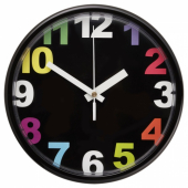 ЮККЕ Настенные часы, разноцветный, 23 см