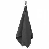 ВОГШЁН Полотенце, темно-серый, 50x100 см