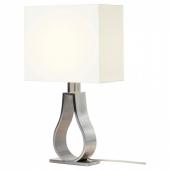 КЛАБ Лампа настольная, белый с оттенком, никелированный, 44 см