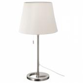 НИФОРС Лампа настольная, никелированный белый