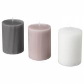 БЛОМДОРФ Формовая свеча, ароматическая,Гладиолус,серый
