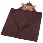 ДЬЮНГЕЛЬСКОГ Полотенце с капюшоном,обезьянка,коричневый