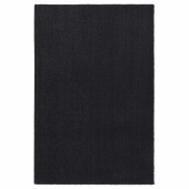 ТЮВЕЛЬСЕ Ковер, короткий ворс, темно-серый, 133x195 см