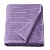 ВОГШЁН Простыня банная, фиолетовый, 100x150 см