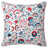 КРАТТЕН Чехол на подушку, белый, разноцветный, 50x50 см