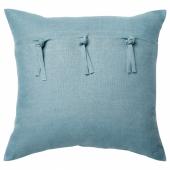 АЙНА Чехол на подушку, голубой, 50x50 см