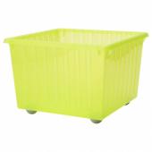 ВЕССЛА Ящик на колесах,светло-зеленый