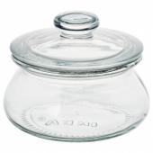 ВАРДАГЕН Банка с крышкой, прозрачное стекло, 0.3 л