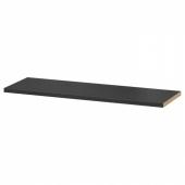 БИЛЛИ Полка дополнительная, черно-коричневый, 76x26 см