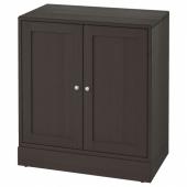 ХАВСТА Шкаф с цоколем, темно-коричневый, 81x89x47 см