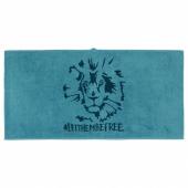 УРСКОГ Банное полотенце,лев,синий