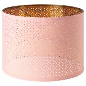 НИМО Абажур, розовый, желтая медь, 44 см