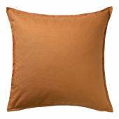 ГУРЛИ Чехол на подушку, коричнево-желтый, 50x50 см