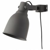 ХЕКТАР Настенный софит/лампа с зажимом, темно-серый