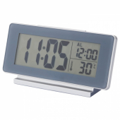 ФИЛЬМИС Часы/термометр/будильник, серый