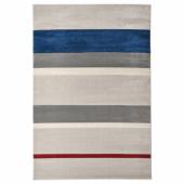 ЛИЛЛЕВОРДЕ Ковер, короткий ворс, серый, разноцветный, 133x195 см
