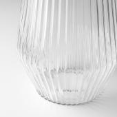 СОЛВИДЕН Напольн светодиод светильник/слн бт, для сада, прозрачное стекло, 42 см