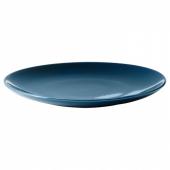 ФЭРГРИК Тарелка десертная, каменная керамика, темная бирюза, 21 см