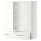 МЕТОД / МАКСИМЕРА Навесной шкаф/2дверцы/2ящика, белый, Хэггеби белый, 80x100 см