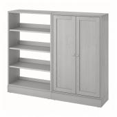 ХАВСТА Комбинация д/хранения, серый, 162x37x134 см